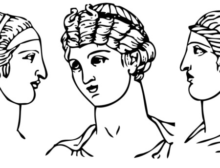 Greek hairstyles 450x345