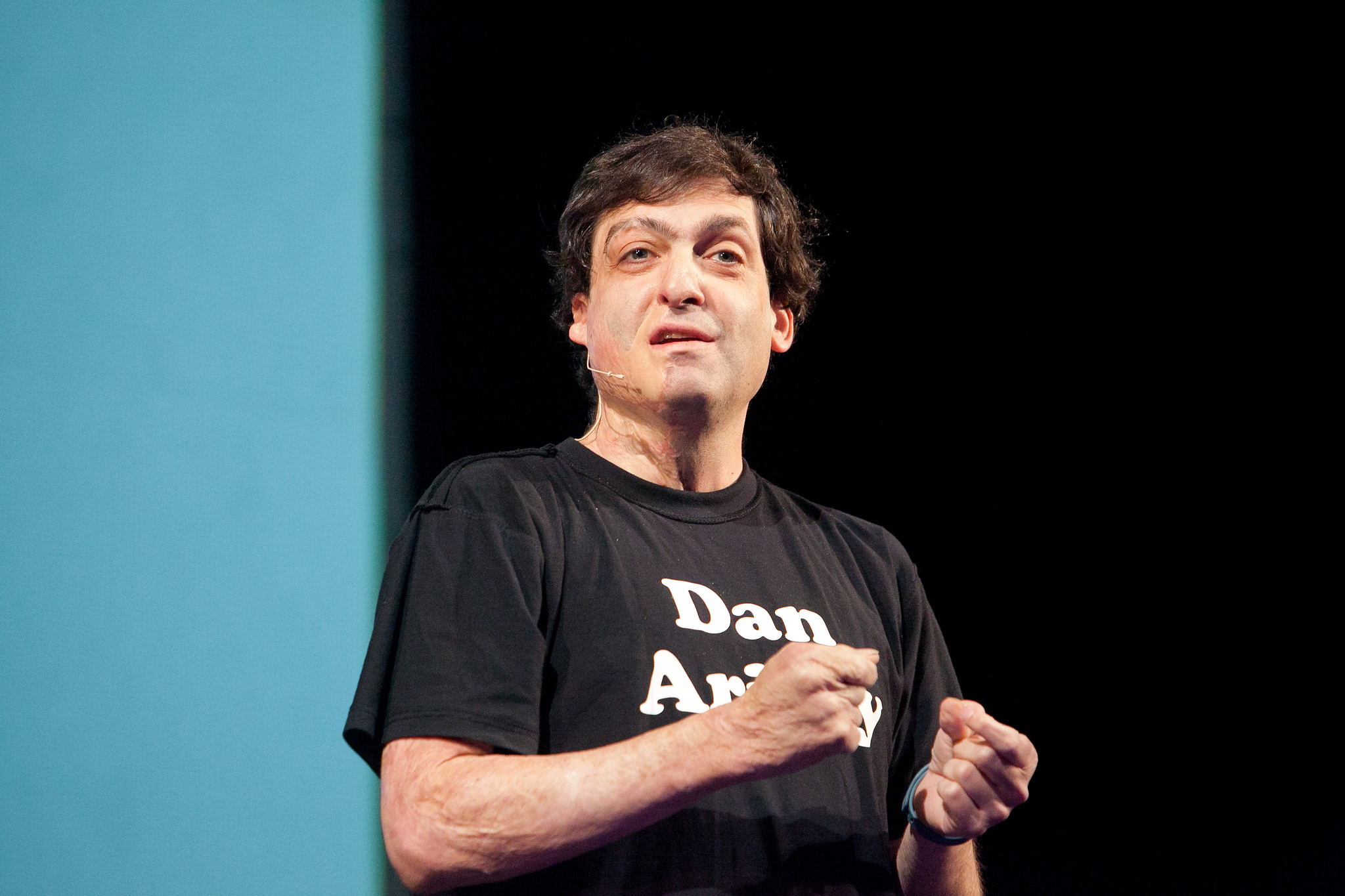 Dan Ariely plays with toys
