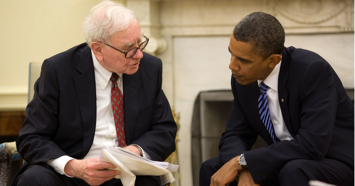 Warren Buffett and Barack Obama